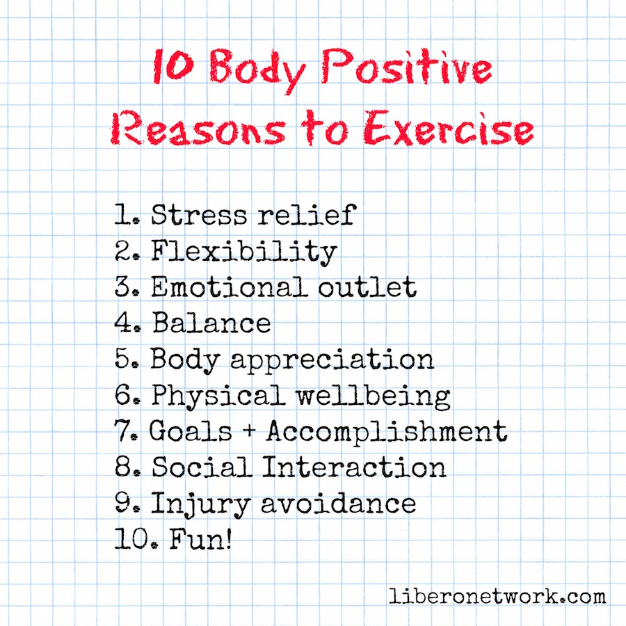 10 Body Positive Reasons to Exercise | Libero