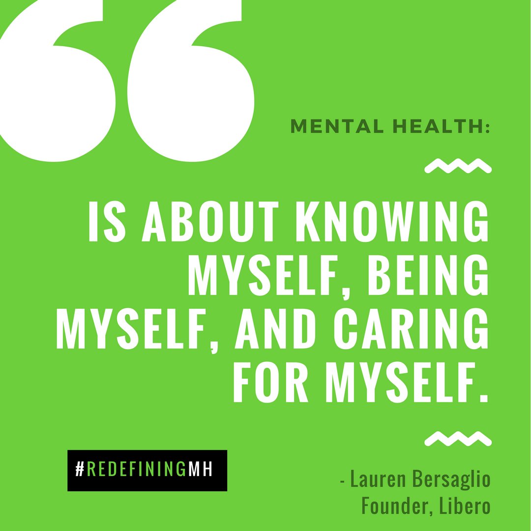 redefining mental health for you | mental health month 2018