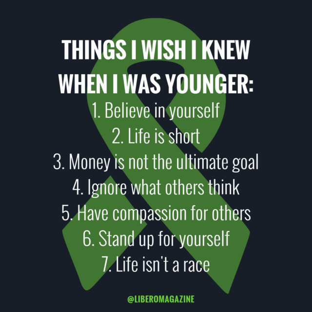 wish i knew when younger