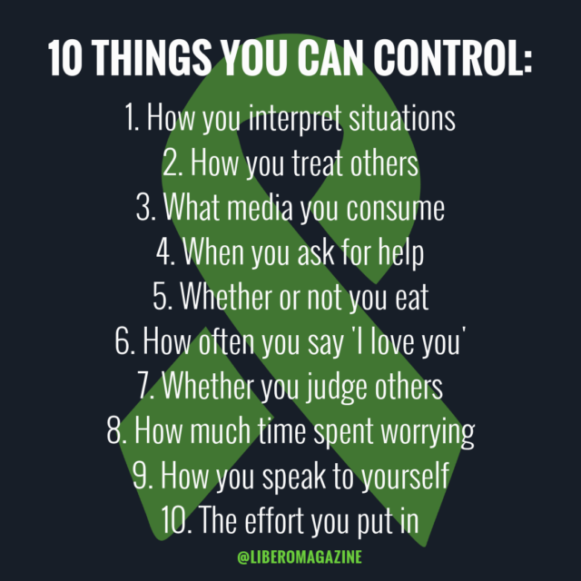 things you can control right now