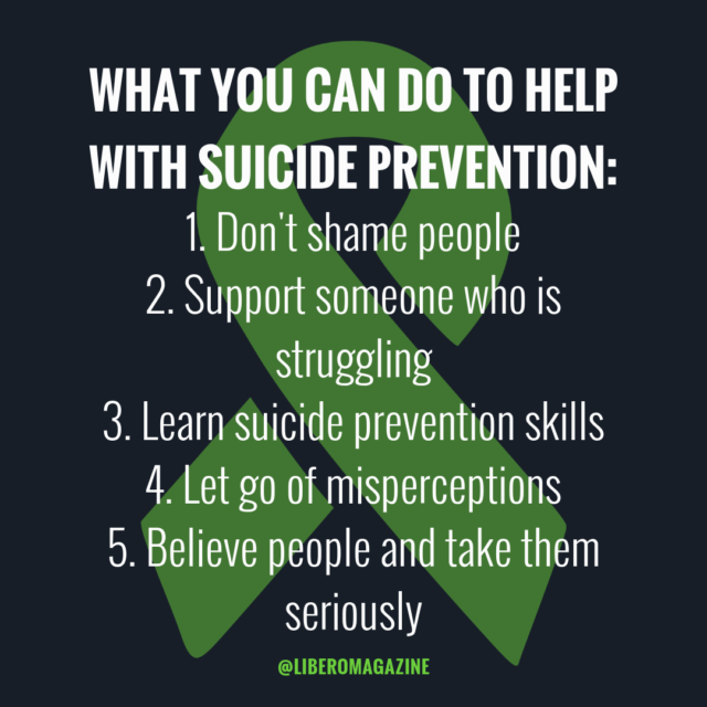 suicide awareness what you can do
