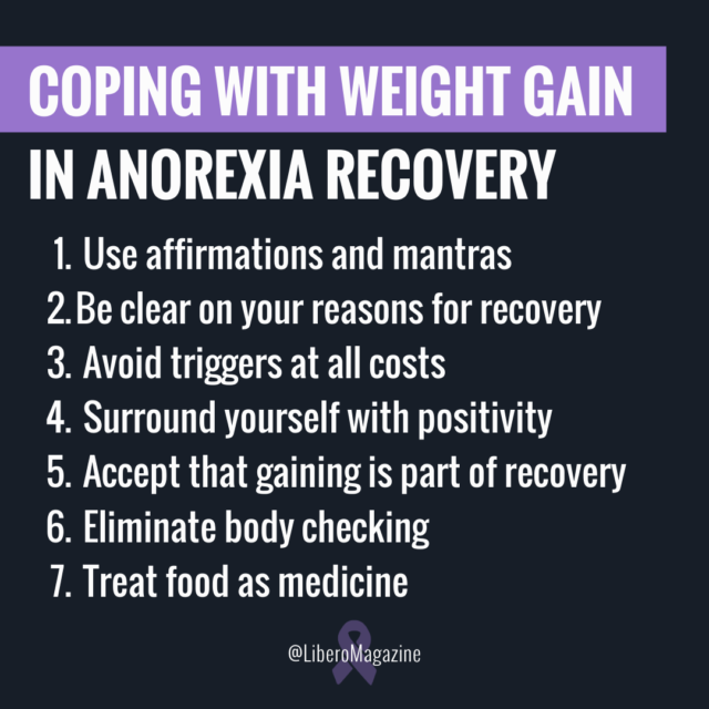 cope weight gain anorexia tips