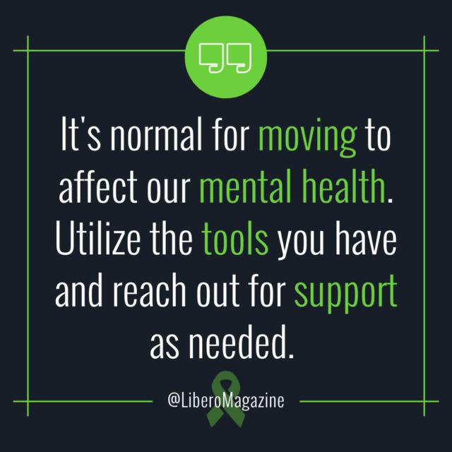moving mental health stress