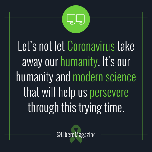 don't let coronavirus take our humanity