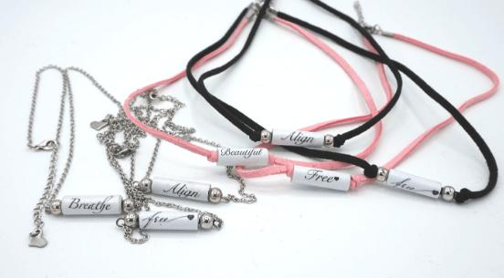 word bead necklaces