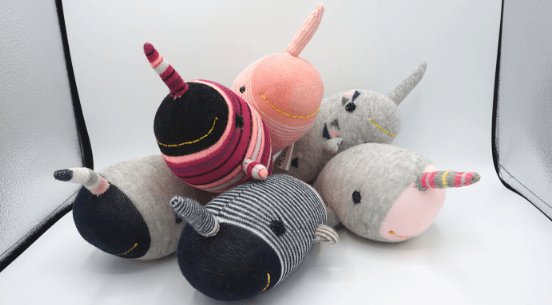 Giving Shop Narwhal sock stuffy