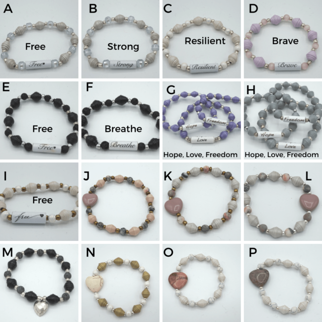 handmade paper bead bracelets (2)