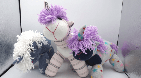 handmade unicorn sock stuffy (2)
