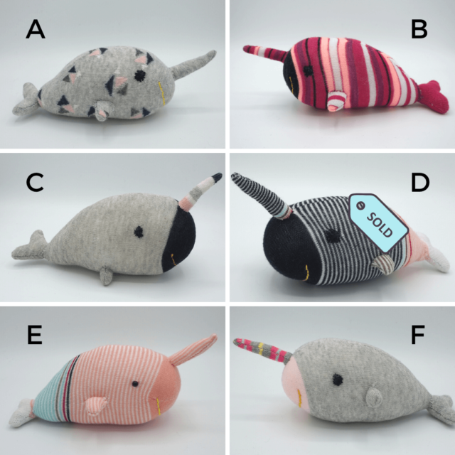 narwhal sock stuffy updated