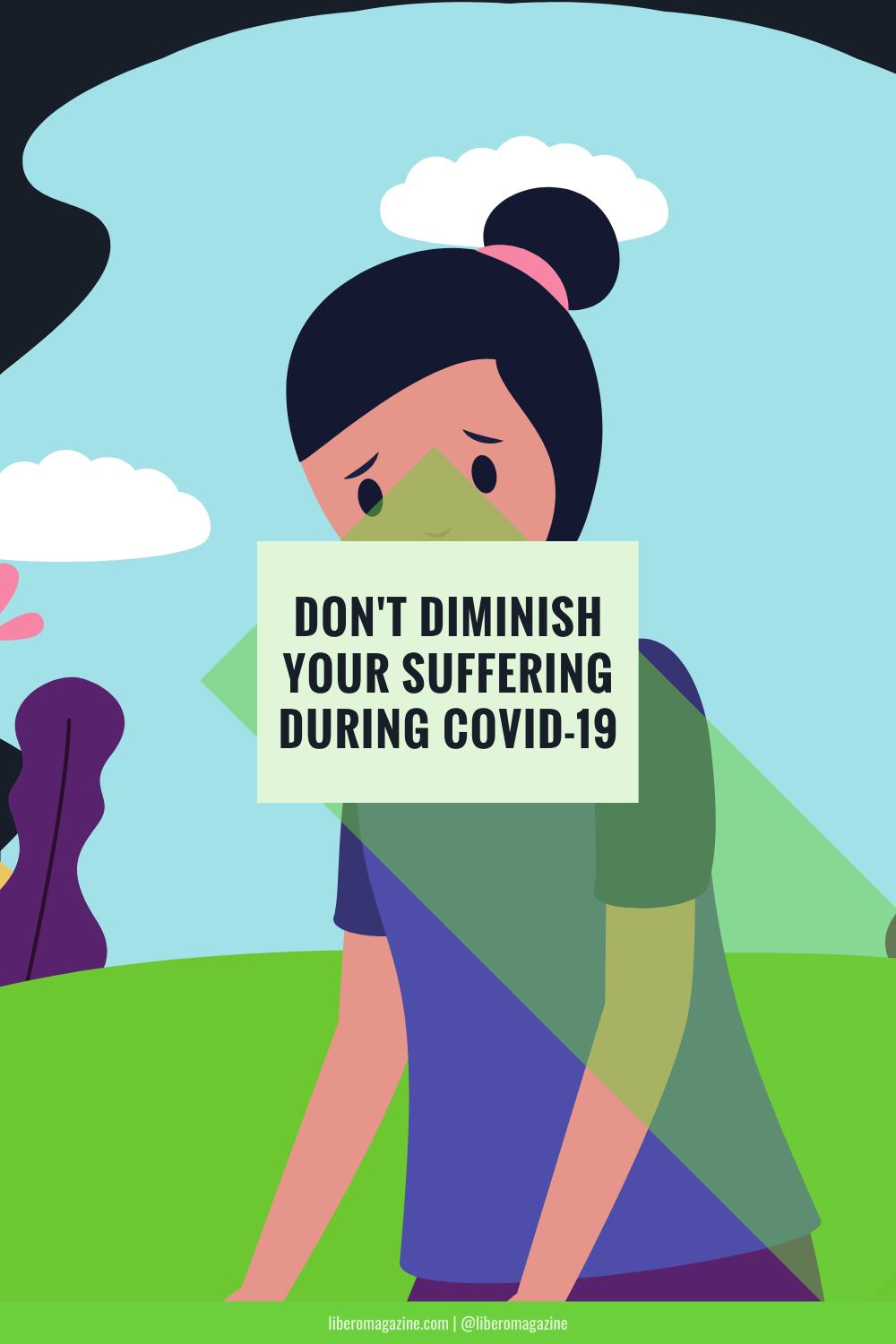 don't diminish your suffering during covid-19 pin