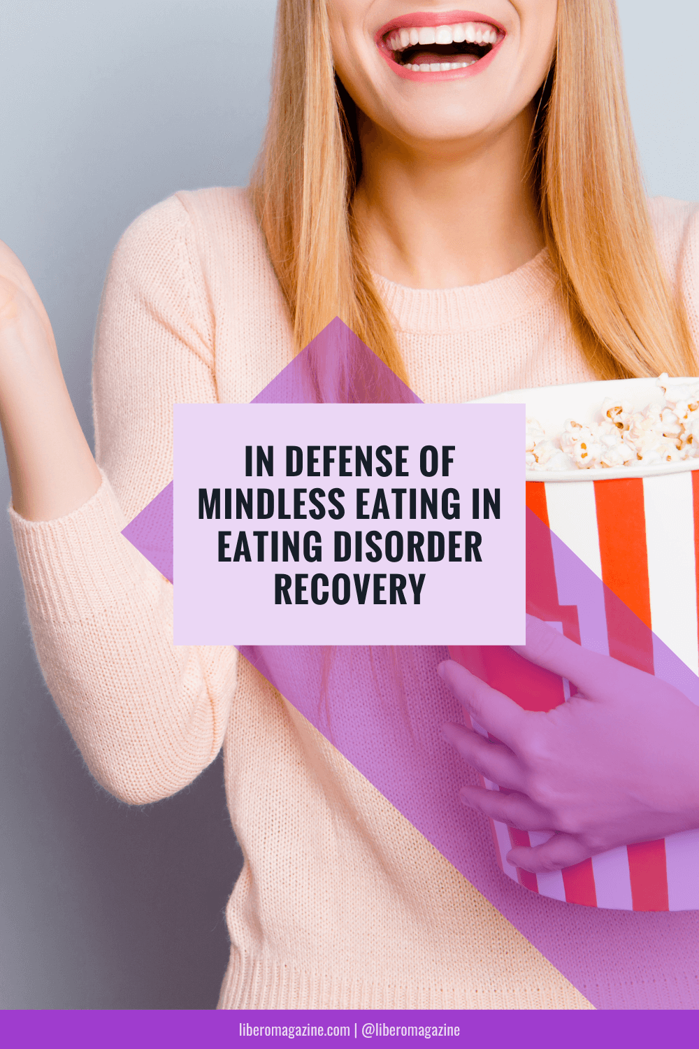 mindless eating in eating disorder recovery Pinterest pin