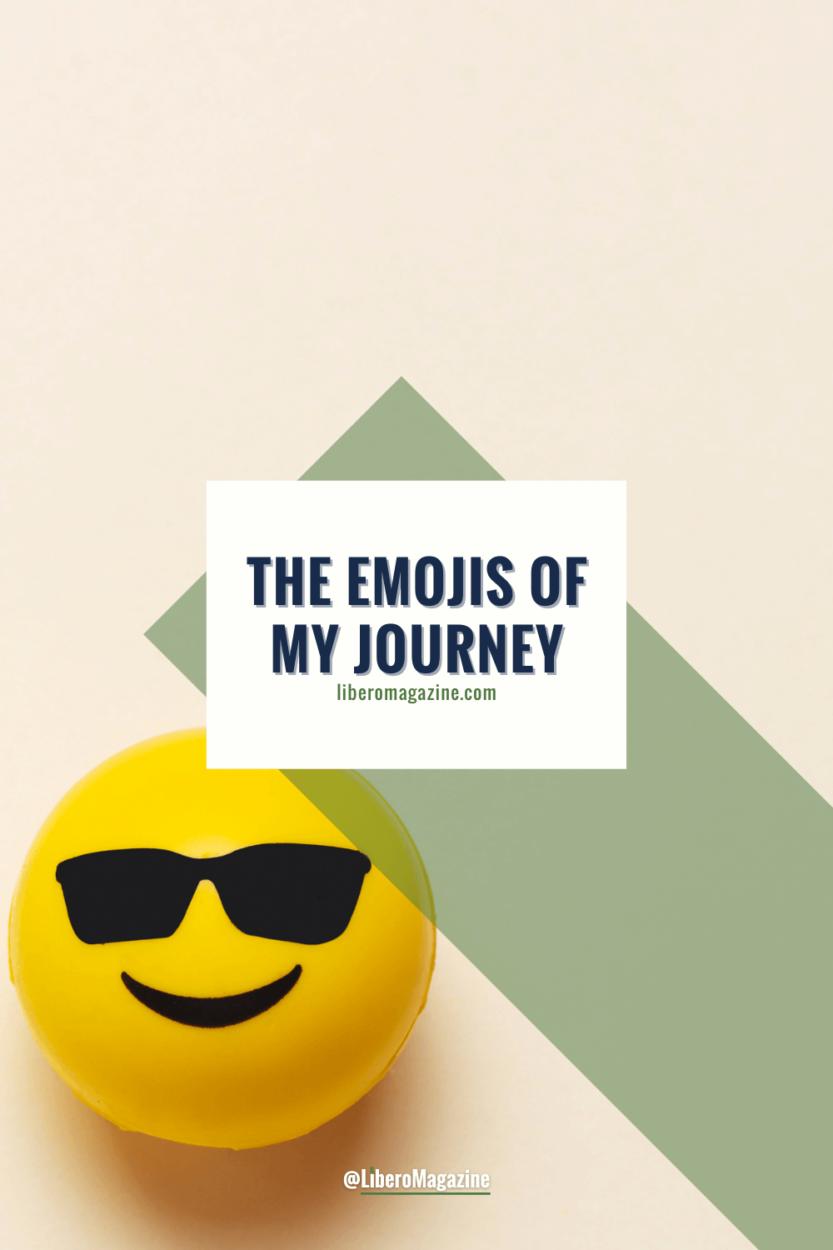 the emojis of my journey pinterest pin
