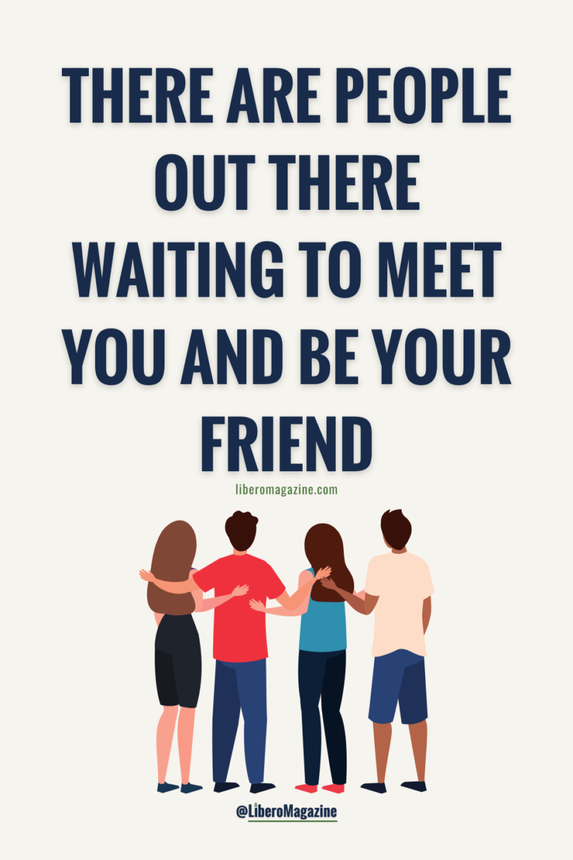 finding friends who support mental health quote with friends standing together